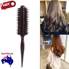 Pro Wooden Handle Anti-static Curly Hair Comb Hairdressing Radial Round Brush