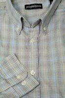Joseph & Lyman Men's Beige & Lavender Check Cotton Casual Shirt S Small
