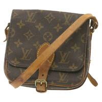 LOUIS VUITTON Monogram Cartouchiere PM Shoulder Bag M51254 LV Auth cr664