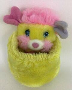 "Popples Potato Chip Yellow 6"" Plush Stuffed Animal Ball Vintage 1986 TCFC Mattel"