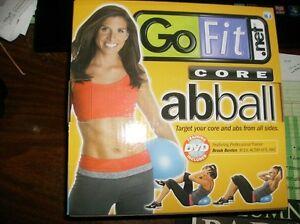 GOFIT CORE ABBALL~20cm CORE AB BALL w/ BROOKE BENTEN WORKOUT DVD~NEW IN BOX
