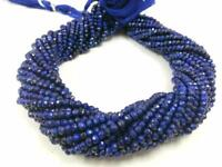 "1 Strand Natural Lapis Lazuli Rondelle 3-4mm Faceted Gemstone Beads 13""Inch"