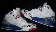 JORDAN 2013 SON MARS Ture Blue Fire Cement White Sz 7.5 Blue/Red Sneakers Shoes