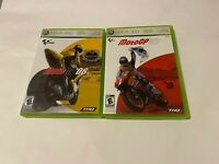 MotoGP 06 & 07 Lot Bundle Microsoft Xbox 360 COMPLETE RACING FAST SHIPPING NTSC