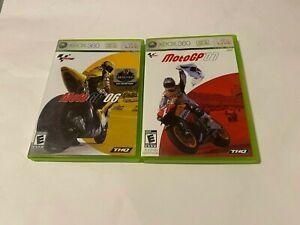 MotoGP 06 & 07 Lot Bundle Microsoft Xbox 360 COMPLETE RACING FAST SHIPPING NTSC