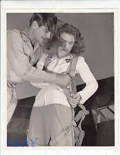 Bob Cummings Deanna Durbin VINTAGE Photo candid 1941