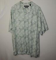 AXIST Short Sleeve Mens Button Silk Touch Rayon Shirt Size MEDIUM M