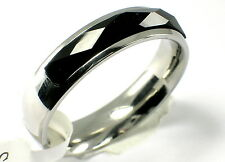 Damen Ring Onyx schwarz edelstahl ring Band Gr. 54 (17,3 mm Ø)