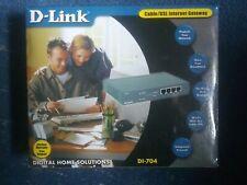 D-Link Di-704 Cable/Dsl Internet Gateway & Firewall 4 Port Broadband Router.New