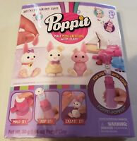 Poppit Mini Bunnies Refill Pack Makes 6 Air-Dry Clay Moose Toys New In Package