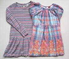 Tea Collection Girls 6 7 Yrs Dresses Lot Purple Plaid Striped Embroidered