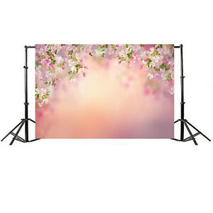 7x5FT Flower Floral Wall Photography Photo Cloth Backdrop Studio Prop Background