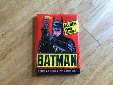 UNOPENED PACK OF 1989 TOPPS BATMAN 2ND SERIES CARDS BOB KANE MICHAEL KEATON DC