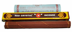 Authentic Red Crystal Tibetan Buddhist Incense Handmade from India