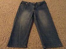 Women's Paris Blues denim jean capris size 5 blue cropped pants