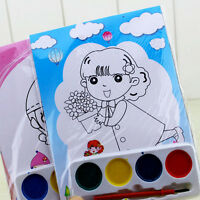 DIY Watercolor Painting Set 4 Colors Children Drawing  Kids Educational Toy  NT