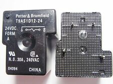 2 x Relais 24V 1xEIN 240V 30A Potter & Brumfield T9AS1D12-24 #9R65#