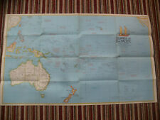 "1974 Islands of The Pacific Ocean 36"" x 22"" National Geographic Magazine Map"