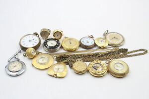 15 x Antique / Vintage Ladies PENDANT / FOB WATCHES Hand-Wind Inc. Rolled Gold