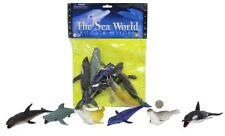 6 Piece Plastic Sea Creatures Figure Playset ~ Sea World Animal Sealife Set