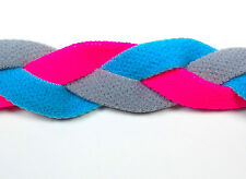 Light Blue Pink Gray Braid Hair Band Head Under Sweaty Headband Armour No Slip