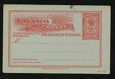Belgian  Congo  postal card  10  cent    unused     MS0203