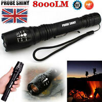 8000 Lumen Zoomable Tactical 5 Modes CREE XML T6 LED 18650 Flashlight Torch Lamp