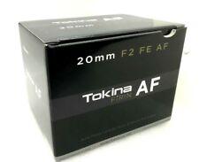 New Tokina FiRIN 20mm f2 FE AF Lens - Sony E Mount Full-frame Format