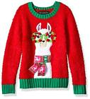 Blizzard Bay Girls Ugly Christmas Sweater Tunic, Red Combo, Size 16 Ic0m