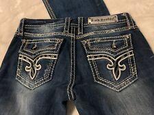 Rock Revival Women's Kai Buckle Denim Jeans Boot Cut Size 29x33