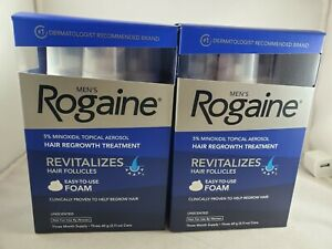 2 box Men's Rogaine 5% Minoxidil Hair Regrowth Treatment Foam - 6 Months Supply