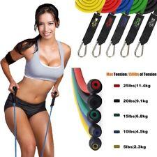 Hot 11Pcs Men Women Resistance Bands Workout Exercise Yoga Crossfit Fitness Tube