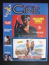 ACTUA CINE N° 59 / OCTOBRE 86 / SYLVESTER STALLONE COBRA / LES FRERES PETARD