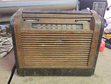1940's PHILCO ROLL TOP TUBE RADIO WOOD CASE Faux Alligator - PARTS / RESTORATION