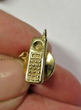 Vintage 9ct Gold Mobile Phone Tie Pin/Tack