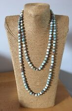 Fashion jewelry woman matt Amazonite beads natural stones Necklace free shiping