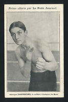 RARE c1912 Le Petit Journal GEORGES CARPENTIER Boxing Premium Postcard Card HOF