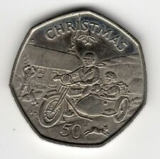 More details for 1988 50p tt coin iom christmas motorcycle sidecar ba isle man fifty pence iom217