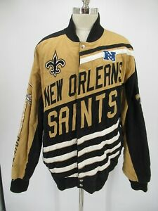 L8711 New Orleans Saints Football-NFL Big Logo Spell-Out Jacket Size 3XL