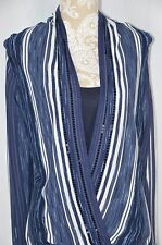 INC Womens Medium Blue Long Sleeve NEW Shirt Loost Fit Tank Layering Sequined