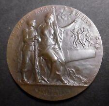 Médaille ENTRAINEMENT PHYSIQUE - PRÉPARATION MILITAIRE 1914  - 50 mm