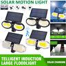 LED Solarleuchte Wandleuchte Gartenlampe mit Bewegungsmelder Solarstrahler DE