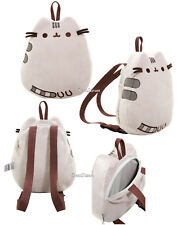 Pusheen The Facebook Cat Plush Fuzzy Backpack Zipper Pouch Purse Bag 3D Whiskers