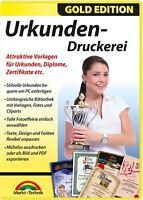 Urkunden Druckerei - Gold Edition - Diplome, Zertifikate, Urkunden…. erstellen