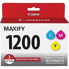 3-Pack OEM Genuine Canon PGI-1200 Color Ink Cartridges C/M/Y 9232B005 NIOB