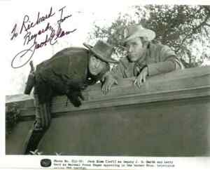 "TV WESTERN B&W FAN PHOTO 6.5"" x 5"" ""THE DAKOTAS"" Autographed by Jack Elam"