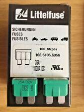 50 Stück Littelfuse Sicherungen 35A, 32V Automotive Blade 162.6185.5356