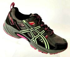 Asics Gel Venture 5 Womens 8.5 D Wide Gray Pink Running Trail Shoes Lace T5N9Q