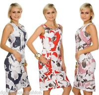 New Floral Dress Ladies Women Summer Everyday Casual Sleeveless 10 12 14 16 18