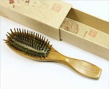 High Quality Natural Green Sandal Wood Hairbrush Wooden Pin Massage Comb 1pcs